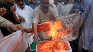 巴基斯坦民眾抗議印度取消克什米爾自治資料圖片