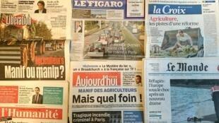 Diários franceses desta quinta-feira 03 de Setembro de 2015.
