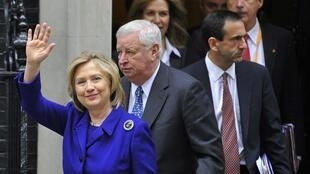 US Secretary of State Hillary Clinton at the London conference