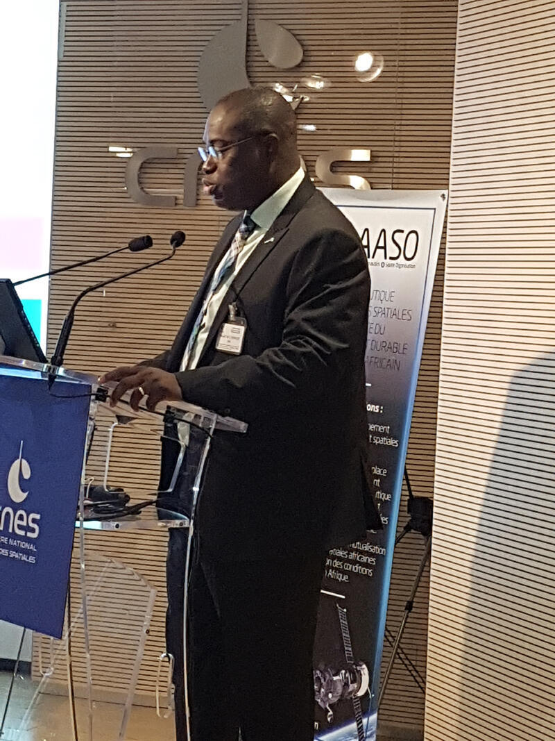 Tidiane Ouattara, expert en sciences spatiales de la Commission de l'Union Africaine.