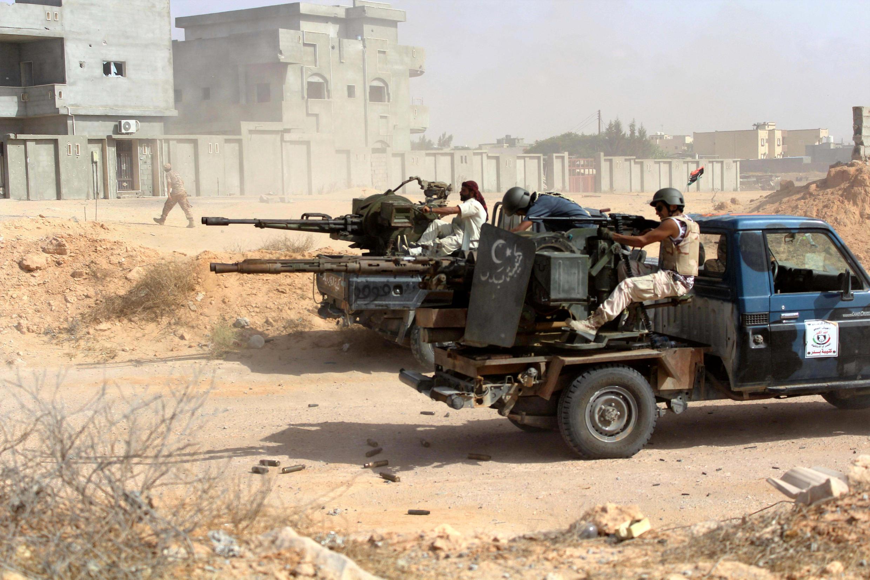 Атака правительственных сил Ливии против боевиков ИГ в Сирте 21 июня 2016.