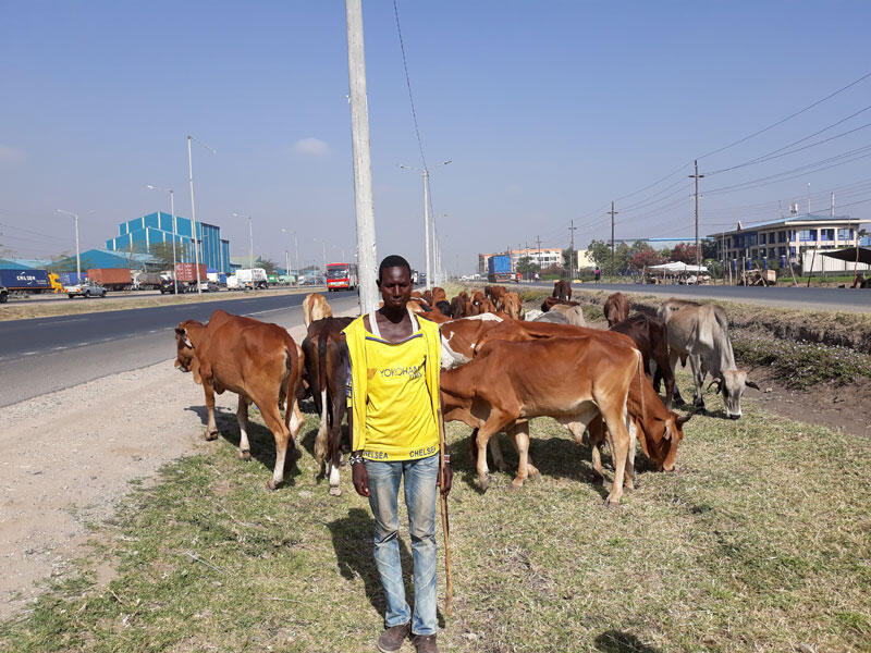 James Sopono, 20 ans, éleveur Masaï.
