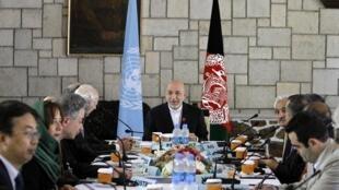 دیدارکرزی با هیأت نمایندگی شورای امنیت سازمان ملل متحد