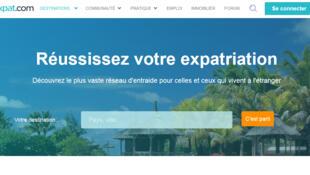 Page d'accueil du site Expat.com