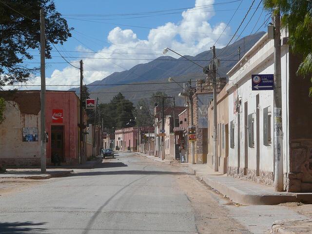 El pueblo de Humahuaca.
