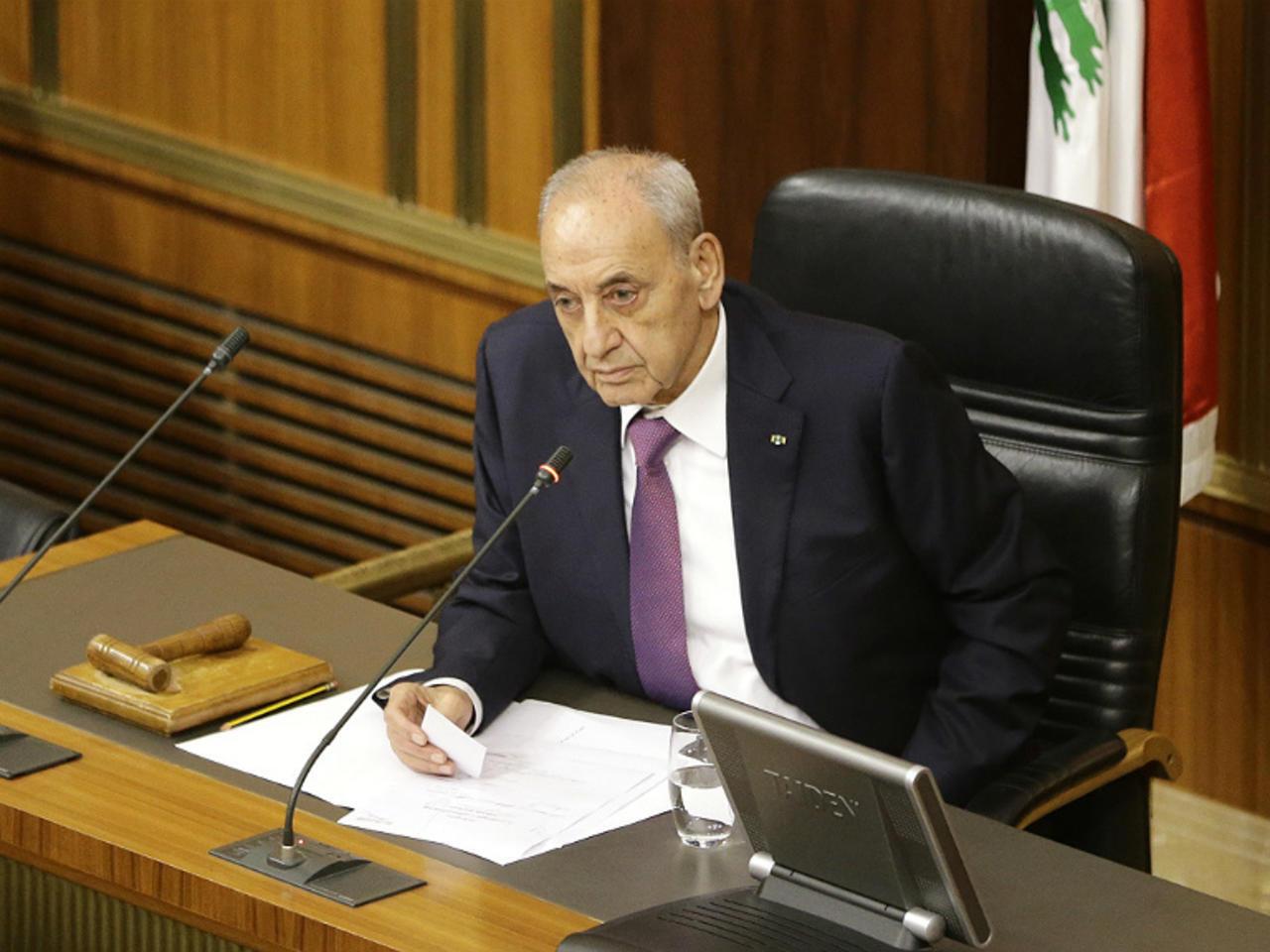 نبیه بری رئیس مجلس لبنان.
