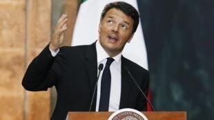 Primeiro-ministro Matteo Renzi promete renunciar se reformas não forem aprovadas.
