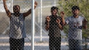 Le centre de rétention d'Amygdaleza, près d'Athènes, a été le théâtre d'une révolte en août 2013.