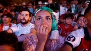 Des supporteurs algériens à Paris, le 7 juillet 2019.