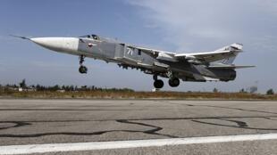 Máy bay Sukhoi Su-24 của Nga tham chiến tại Syria năm 2015.