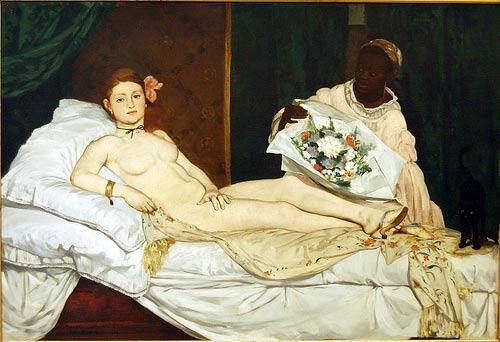 """A célebre """"Olympia"""", pintada por Edouard Manet, recebeu uma permissão especial do presidente François Hollande para viajar à Itália."""
