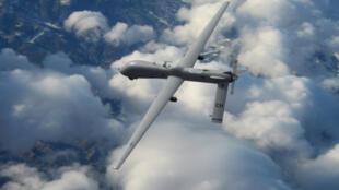 Un drone Predator MQ-1 avec des missiles Hellfire.