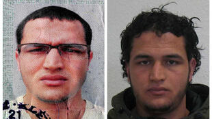 Handout pictures released on December 21, 2016 and acquired from the web site of the German Bundeskriminalamt (BKA) Federal Crime Office show suspect Anis Amri searched in relation with the Monday's truck attack on a Christmas market in Berlin.