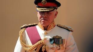 Le roi Abdallah II de Jordanie à son arrivée devant le Parlement le 14 octobre 2018.