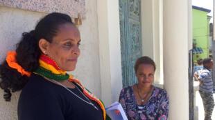 Sehmar, une jeune Erythréenne et sa mère, qui viennent d'arriver à Acquaformosa.