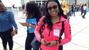 M'lissa, una joven estudiante afroamericana, se encontraba en el mitin de Barack Obama en Miami, este 3 de noviembre de 2016.