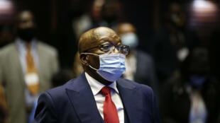 Jacob Zuma durante su anterior comparecencia ante el tribunal de Pietermaritzburgo el 26 de mayo de 2021