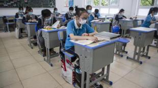 Reanudación de las clases en los institutos de Wuhan, en China, el 6 de mayo de 2020