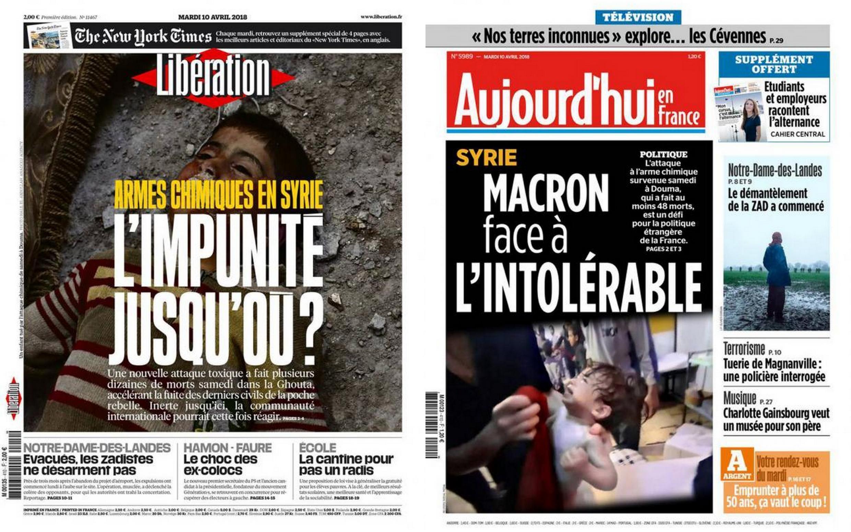 A imprensa francesa avalia se há chances de EUA e França darem uma resposta militar na Síria, após o ataque químico na cidade de Duma.