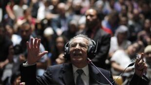 Nhà độc tài Guatemala Rios Montt nhân phiên xử ngày 09/05/2013.