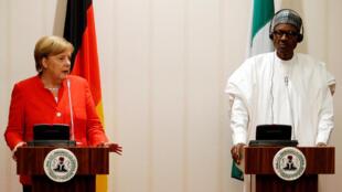 Angela Merkel et Muhammadu Buhari à Abuja, le 31 août 2018.