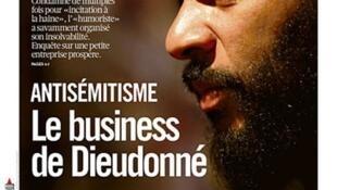 Capa do jornal Libération desta terça-feira, 7 de janeiro de 2014, dedicada à polêmica envolvendo o humorista francês Dieudonné.