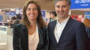 Secretária de Estado do Turismo, Ana Mendes Godinho, e Ricardo Simões, director do Salão do Imobiliário e Turismo Português em Paris