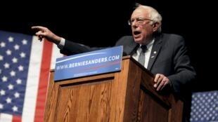 Bernie Sanders comemora a vitória na primária do Wisconsin