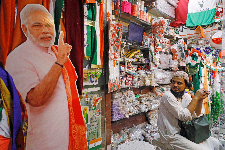 Phe của đảng BJP vận động tranh cử tại New Delhi. Ảnh ngày 08/04/2019.
