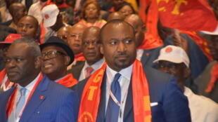 Denis Christel Sassou Nguesso, actuel ministre congolais de la coopération internationale et de la promotion du partenariat public-privé, le 31 décembre 2019 lors du dernier congrès du Parti congolais du travail.