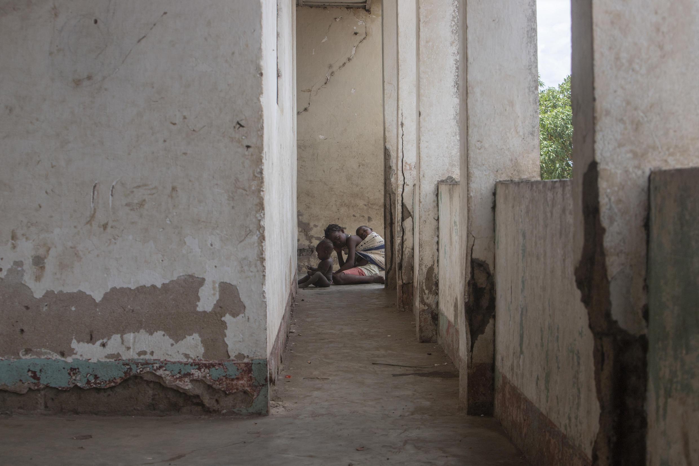 Deslocados da violência em Cabo Delgado.