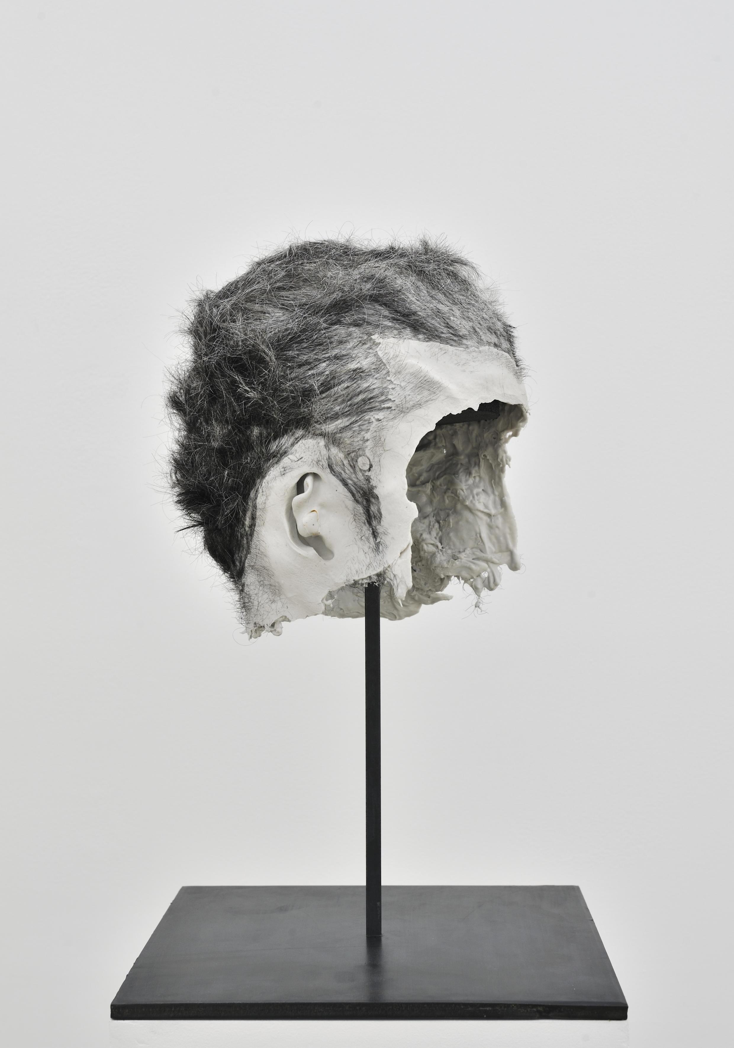 """Obra de Bruno Botella, """"Oborot"""", Silicone e modelagem capilar, 2012, coleção frac île-de-france"""