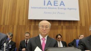 លោក Yukiya Amano អគ្គនាយកនៃទីភ្នាក់ងារអន្តរជាតិខាងថាមពលនុយក្លេអ៊ែរ AIEA