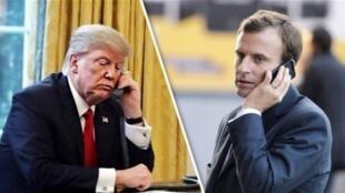 دونالد ترامپ، رئیس جمهوری آمریکا در گفتگوی تلفنی روز جمعه ۶ سپتامبر/ ۱۵ اردیبهشت با امانوئل ماکرون همتای فرانسوی خود، بر عدم لغو تحریمها از سوی آمریکا علیه ایران تأکید کرد.