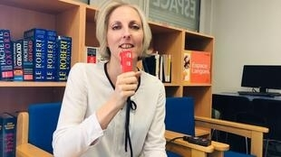 Bà Frédérique Simpson Pharaboz, giám đốc Trung tâm ngoại ngữ Espace Langue của trường Đại học Paris Nord - Paris 13 trả lời phỏng vấn của RFI Việt ngữ.