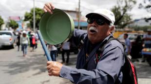 Manifestación contra la decisión de Morales de no renovar el mandato de la CICIG, el pasado 20 de septiembre en Ciudad de Guatemala.