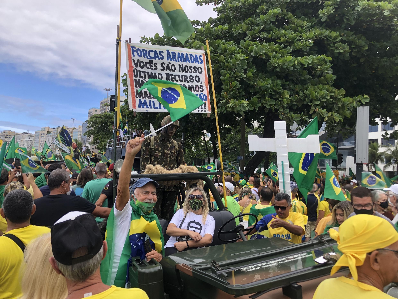 Manifestação de apoio a Jair Bolsonaro