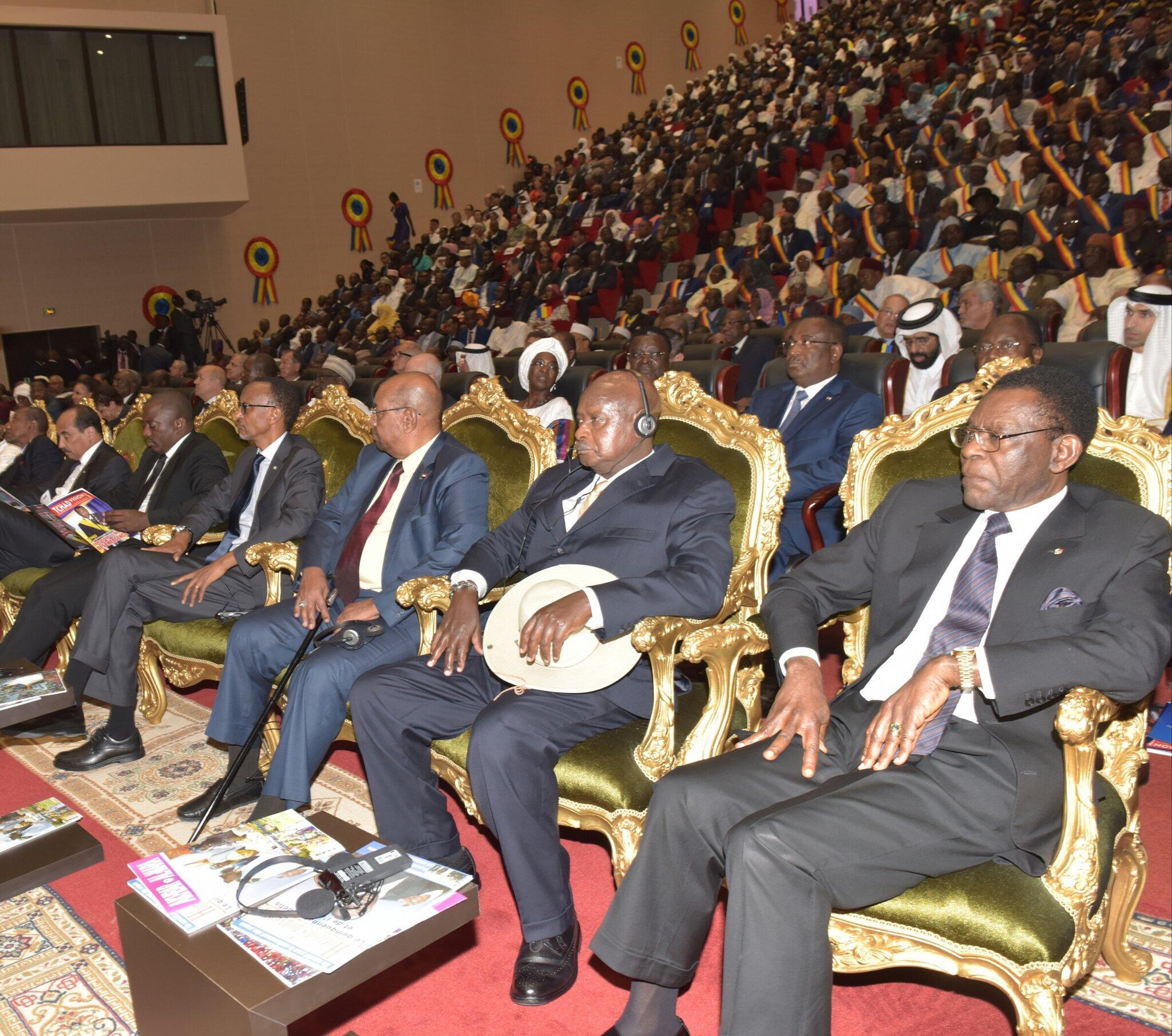 Wakuu wengi wa mataifa ya Afrika walikuwepo kuhudhuria sherehe ya kutawazwa kwa Rais Idriss Déby Itno.