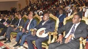 De nombreux chefs d'Etat africains étaient présents pour assister à l'investiture d'Idriss Déby.