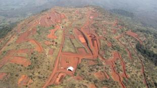 Site minier de Simandou en Guinée.