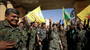 Lực lượng FDS sau khi chiếm được Raqqa. Ảnh ngày 17/10/2017.