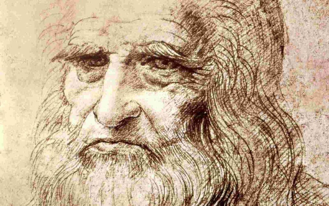 The man himself, more or less. A self-portrait of Leonardo da Vinci.