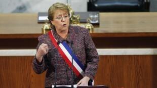 Michelle Bachelet, el pasado 21 de mayo del 2014.