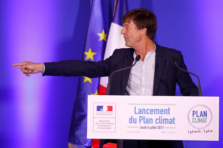 Николя Юло на посту министра комплексных экологических преобразований Франции, 6 июля 2017.