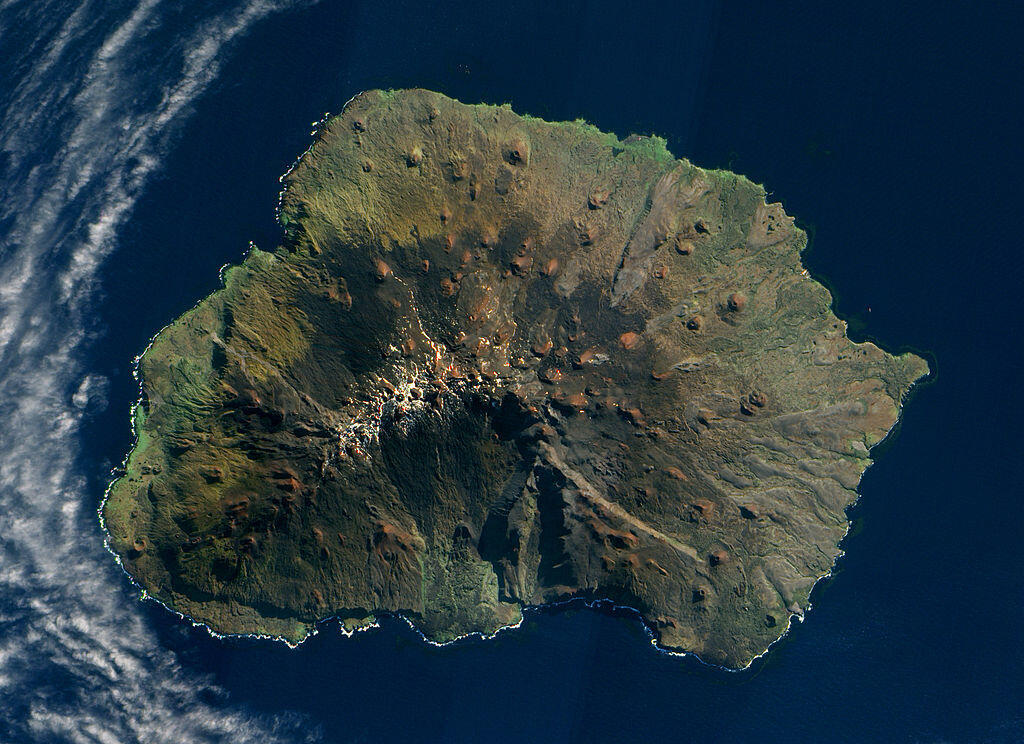 Satellite image of South Africa's Marion Island, 2009.