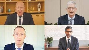 美國四大科技企業7月29日參加視頻聽證會資料圖片