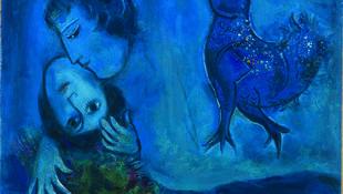 Marc Chagall (Liozna, 1887 – Saint-Paul-de-Vence 1985) Le Paysage bleu 1949