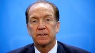 David Malpass, président de la Banque mondiale.