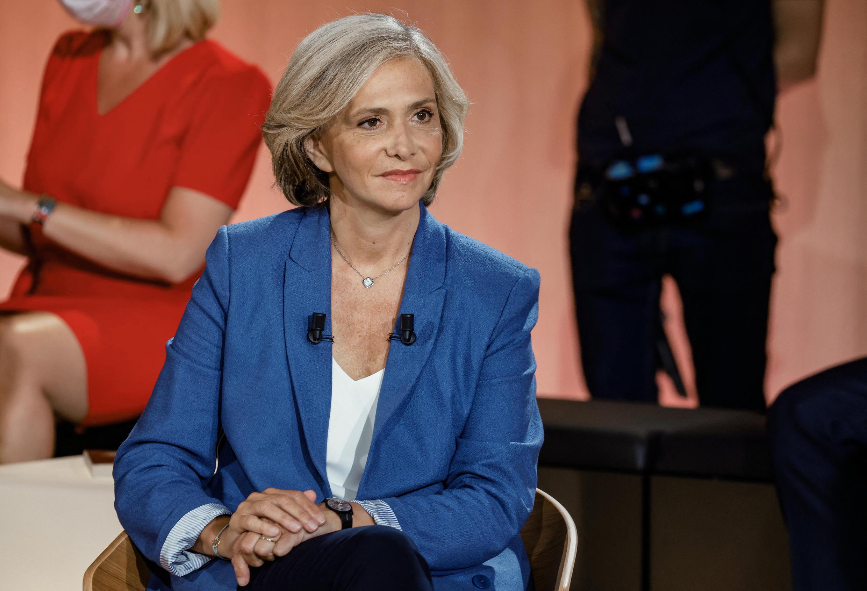 La présidente de la région Ile-de-France, Valérie Pécresse (Libre !), en tête du premier tour des élections régionales, le 20 juin 2021.