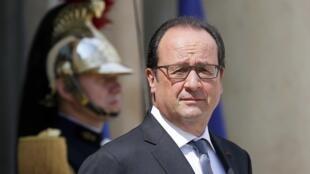 Le président français François hollande, le 7 juillet dernier au palais de l'Elysée à Paris.